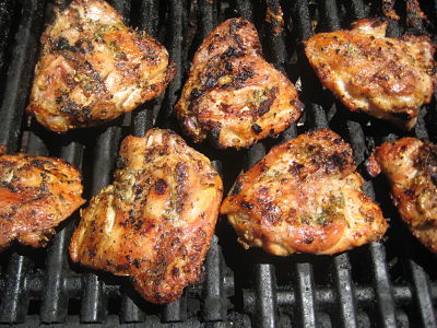 Fennel and Garlic Chicken Thighs on the Grill