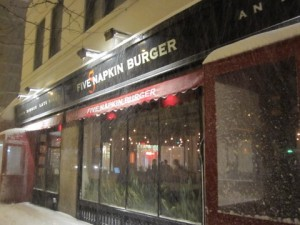 Five Napkin Burger on a Snowy Evening